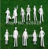 500pcs  scale 1/200white model plastic figure model humans
