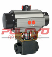 Pneumatic industrial high pressure ball valve
