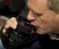 New novelty CPAM Coffee camera lens mug cup Caniam logo Free shipping