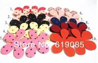 Big flower hair accessory hair accessory fabric lucky four leaf clover bangs magic paste 100pcs