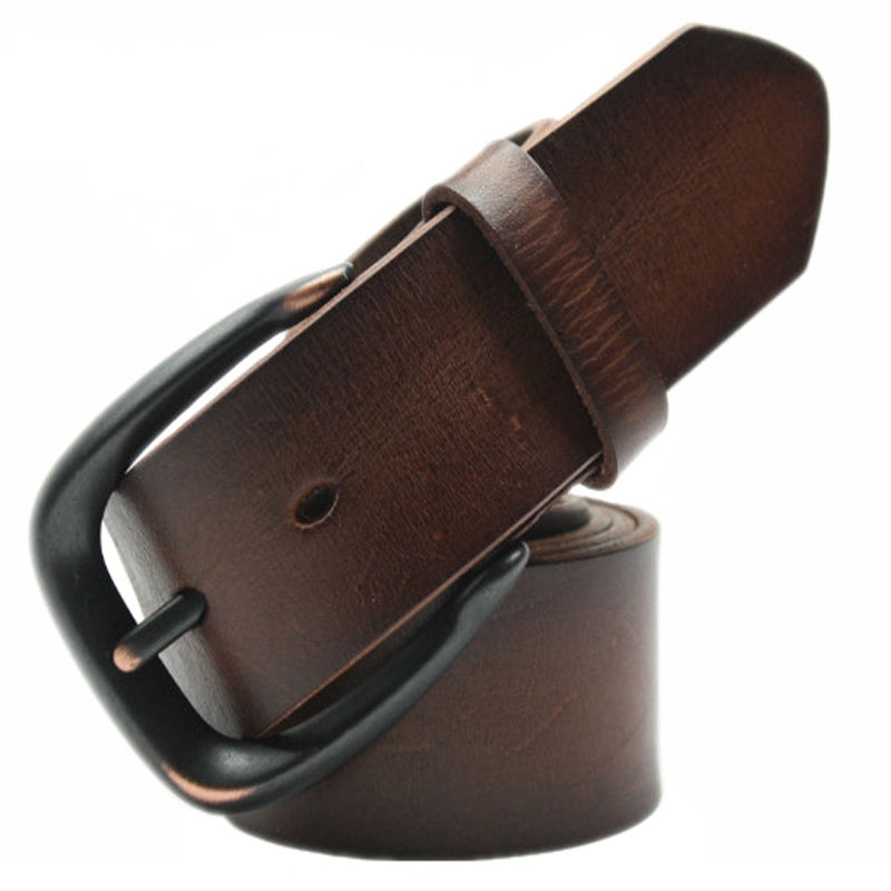 Male strap kindredship leather vintage scrub pin buckle belt lengthen 4cm(China (Mainland))