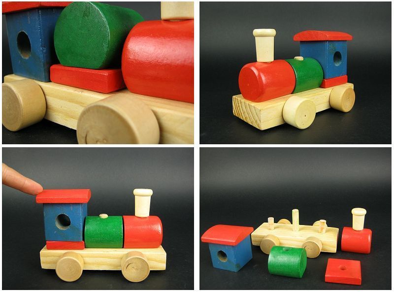 Puzzle blocks baby wool toy wooden toy car free shipping(China (Mainland))