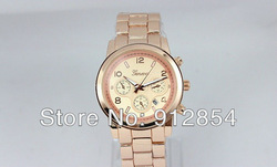 DHL shipping (50piece/lot) Fashion Michael Alloy Geneva watch with Calendar,Man/Women,Good quality,4 Color Available(China (Mainland))