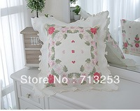 NO.119-PB free shipping new floral fashion luxury beautiful cheap pillow case for living loom sofa bed and car