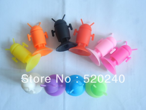 Large Supply Phone Holder for Mobile phone Mp4 Free shipping 500psc Cartoon Robot Phone Stands(China (Mainland))