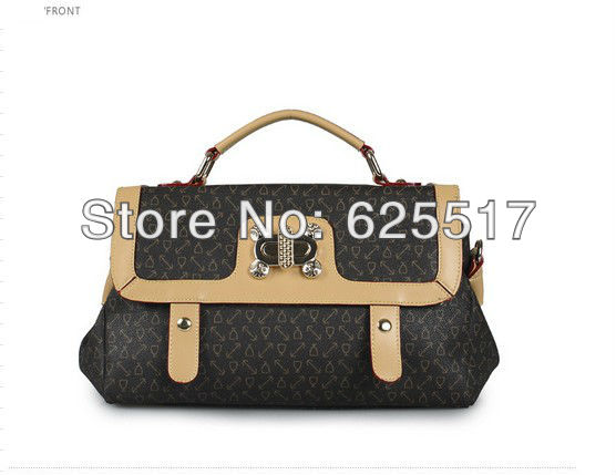 Exempt postage brand in Europe and the United States fashion lady handbags, leisure retro leather shoulder bag(China (Mainland))