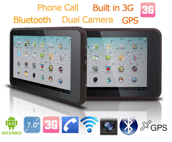 Best price 100% original Dual SIM card Built in 3G Bluetooth GPS SIM Card Dual Camera tablet video input(China (Mainland))