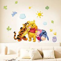 Cheapest Popular PVC Cartoon Tigers and Bear Wall Sticker Wall Mural Home Decor Room Decor Kids Room 1068