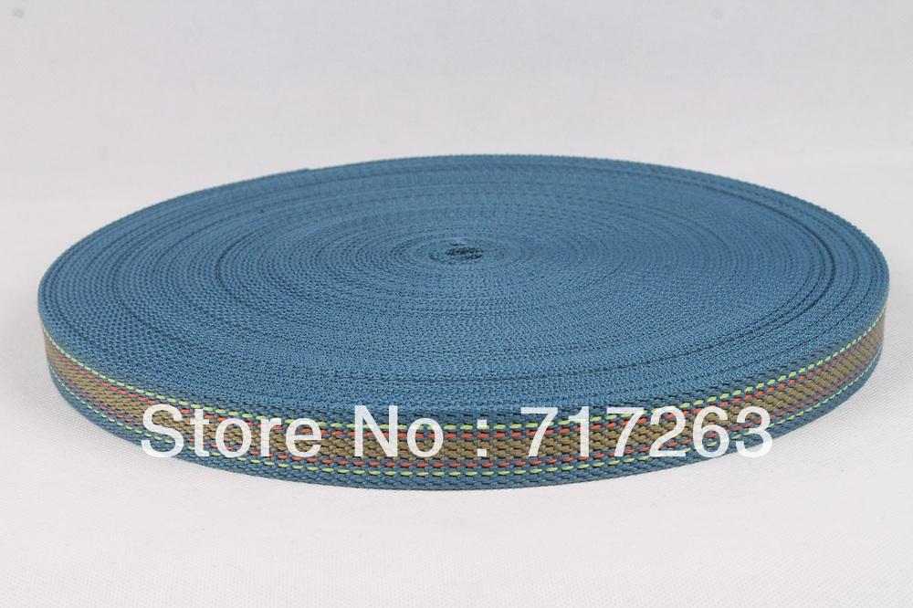 1 inch wide 40 yards long a roll beautiful cotton webbing belt #19(China (Mainland))