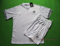 Free Shipping!!!12/13 France Away White Soccer Jerseys,Football Shirts with Short,soccer kits+Embroidery Logo Soccer uniform