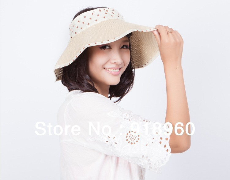 Fashion 2013 summer women's sunbonnet straw hat/ladies' braid fedoras large brim strawhat/outdoor travel sun hat good quality(China (Mainland))