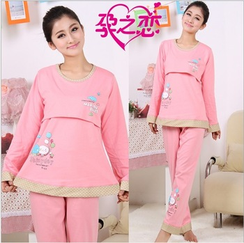 Spring and autumn maternity clothing month of clothing 100% cotton maternity sleepwear romantic balloon fashion lounge maternity