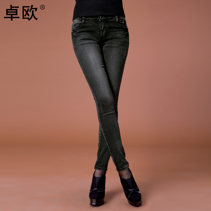 2012 black skinny slim jeans pants female trousers we211001(China (Mainland))