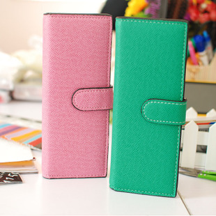free shipping Hasp multi card 55 place card holder long design women's card holder card case Big discount wholesale(China (Mainland))