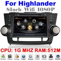 S100 Car DVD Highlander Toyota Auto Multimedia GPS navigation DVD Device GPS 1080P Wifi 3G DVR Video Player Free Map EMS DHL