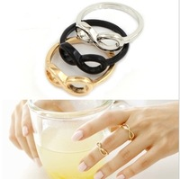 Fashion jewelry Infinity symbol finger ring mix color R02W54F