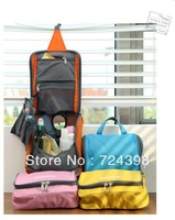 Freeshipping 2013 New Portable Cosmetic Bag Hanging Toiletry Travel Organizer Bags in Wash makeup bag Case