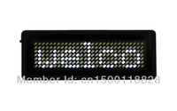 DHL Free shipping,LED Scrolling name tag,20 Pcs/lot,100% Manufacturer sale White Color 7*29 pixel