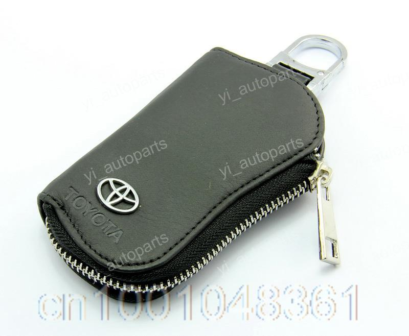 Leather Remote Shell Case Key Card Holder Purse Wallet For Toyota Camry Corolla RAV4 Prado Avalon Land FJ Cruiser Matrix Chain(China (Mainland))