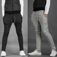 2013 spring and autumn the trend of men's sports casual  harem pants slim skinny pants