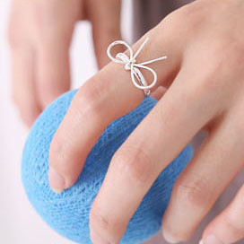 Free shipping Min.order is $15 (mix order) accessories brief star bow ring finger ring(China (Mainland))