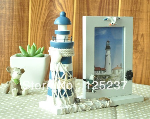 Sea Style Natural Home Decorated Frame Handmade wood Frame Wooden Souvenir(China (Mainland))