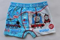 Wholesale 4pcs/lot Baby Boy cartoon boxers thomas blue briefs shorts soft 100% cotton underwear kids fashion casual shorts