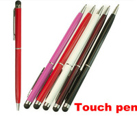 Dual function 2 in 1 Screen touch Pen capacitive stylus for iphone ipad samsung htc stylus touch pen 300pcs free dhl shipping