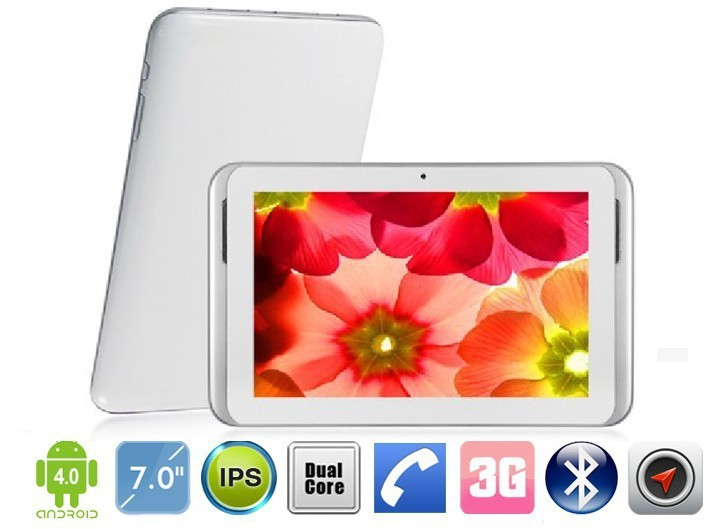 7inch Sanei N79 3G tablet pc 1024x600px Dual Core 1.2GHz Android 4.0 512MB 4GB WIFI GPS, Bluetooth(China (Mainland))
