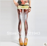 Free shipping !!!!2013 spring and summer women's ankle length legging bones pattern slim fashion pants tight-fitting