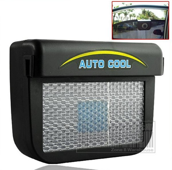 DHL FedEx Free Shipping (10pcs/lot) New Solar Power Car Auto Cool Air Vent With Rubber Stripping Car Ventilation Fan Wholesale(China (Mainland))