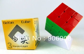 Retail Drop Shipping 1pc/lot Dayan 2 Guhong II 3x3x3 magic speed cube black/stickerless educational toy + Global free shipping