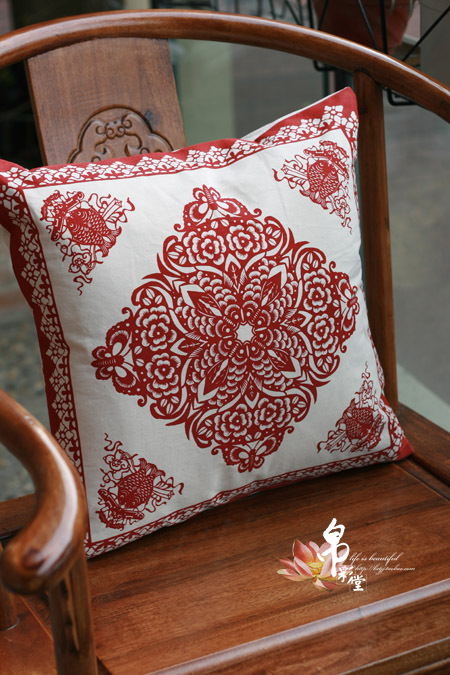 100% cotton chinese style cushion pillow cushion cover traditional fabric rich(China (Mainland))