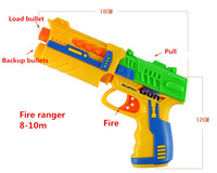 Free shipping! New RAGING FIRE hand operation Soft Bullet Blaster Nerf Gun 10 Dart Toy for children outdoor toys gift