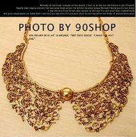Fashion retro hollow carved false collar necklace