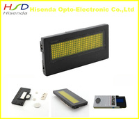 DHL Free shipping,LED message Signage badge,20 Pcs/lot,100% Manufacturer sale Yellow Color 7*29 pixel,3.6*1.4*0.3 inches