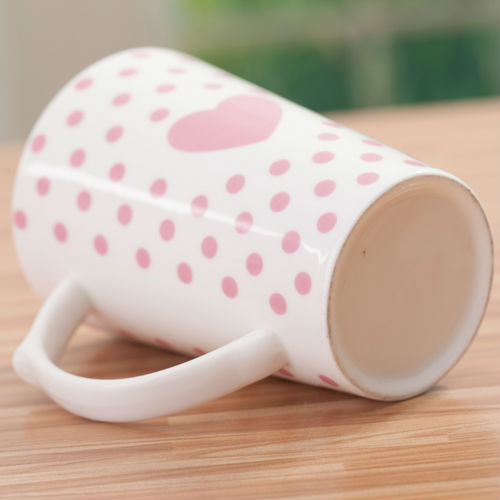 Wholesale Ceramic mug sweet love cups hot drinks tea cup zakka four-color optional(China (Mainland))