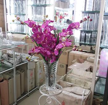 Free ship Flower phalaenopsis artificial flower silk flower decoration flower floor desktop green plants