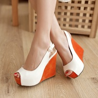 women's sandals platform wedges high-heeled shoes candy platform open toe shoe female shoes