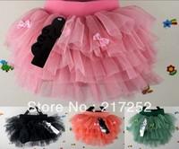 wholesale childrens 2013 new arrive Girl's Tutu skirts baby veil skirt 3 bowknot  princess short skirt