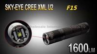 SKY-EYE CREE XML U2  5-Mode 1600 Lumen 18650/26650/3xAAA LED Flashlight Torch F15