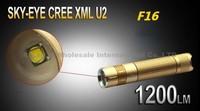 5PCS/LOT SKY-EYE CREE XML U2  5-Mode 1200 Lumen 18650 LED Flashlight Torch Glod F16