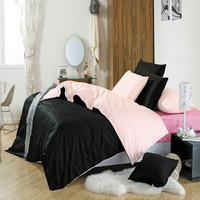 FREE SHIPPING! 100% cotton color block decoration piece set 100% cotton plain sheets fitted style color block bedding
