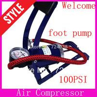 Hot mini motorbike pump bicycle basketball inflatable pump tire pressure car air pump compressor foot pump wholesale