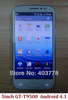 "SG post  gt-t9500  5""inch  Smart phone  SC6820 Dual  Camera  Dual SIM  wifi Andorid 4.1 Bluetooth"