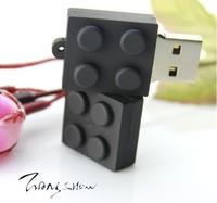 Hot sales ! Wholesale !10pcs/lot Cute Building block model USB 2.0 Flash Memory Stick Drive  Full Capacity Thumb drive Pen Disk