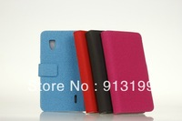 Free Shipping Leather Flip Case for LG Optimus G LS970 ,High Quality Wallet stand Leather Case For LG Optimus G E971 E973 E975