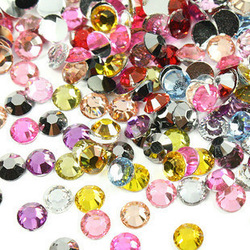 wholesales Free shipping NON HOT FIX STONE 1440pcs 30ss-6.5mm MIXED color flat back crystal nail art rhinestone(China (Mainland))