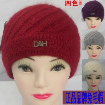 2012 women's rabbit fur hat the elderly hat cap knitted hat cap