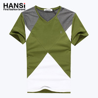Short-sleeve t-shirt male short-sleeve t-shirt V-neck men's clothing short-sleeve T-shirt men's clothing top short-sleeve